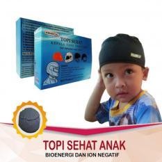 Kenrical - Peci / Kopiah / Topi / Kupluk Anak Terapi Relaksasi Kesehatan dari Batu Tourmalin - Hitam