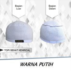 Kenrical - Peci / Kopiah / Topi / Kupluk Terapi Relaksasi Kesehatan dari Batu Tourmalin - Putih