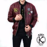Kent Jaket Bomber Kent Full Patch Maroon New Diskon Indonesia