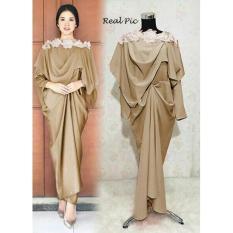 Kenzmal Maxy Gamis Dress Muslim Pesta Adelia - Tersedia 4 Warna