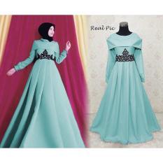 Kenzmal Maxy Gamis Dress Muslim Princess Untuk Pesta - Tersedia 3 Warna