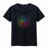 Toko Kepala Leher Bulat Lengan Pendek Coldplay T Shirt Hitam Murah Tiongkok