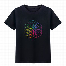 Beli Kepala Leher Bulat Lengan Pendek Coldplay T Shirt Hitam Online Tiongkok