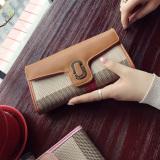 Harga Karakter Perempuan Baru Kapasitas Besar Ritsleting Dompet Tas Tangan Coklat Di Tiongkok