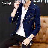 Spek Karakter Pria Musim Semi Dan Musim Gugur Musim Panas Gaun Bagian Tipis Jaket Biru Tua Tiongkok