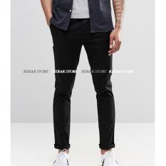 Spesifikasi Kerak Store Celana Chinos Pria Slim Fit Celana Pria Berkualitas Chinos Nakent Hitam Nakent Terbaru