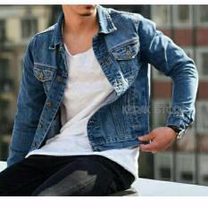 Jual Kerak Store Jaket Denim Pria Premium Biru Garment Original