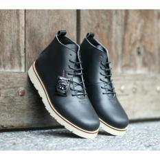 Jual Kerak Store Sepatu Boots Kulit Asli Pria Bradley S Original Bradley S Hoobs Hitam Murah