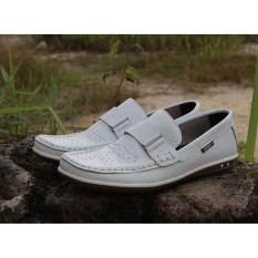 Kerak Store Sepatu Casual Pria Loafer Sepatu Kulit Asli Cevany Tasone Putih Cevany Diskon 50