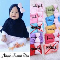 Kerudung Anak Bayi Aisyah Kerut Pita / Jilbab Anak Bayi / Jilbab Bayi / Hijab Pashmina Instan Anak