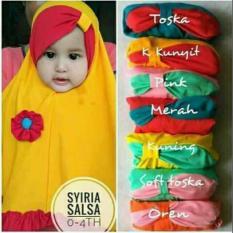 Kerudung Anak Bayi salsa / Jilbab Anak Bayi / Jilbab Bayi / Hijab Pashmina Instan Anak