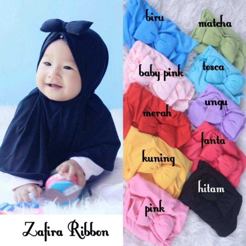 Hemat Kerudung Anak Bayi Zafira Ribbon Jilbab Anak Bayi Jilbab
