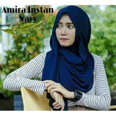 Kerudung Hijab Amira Instan Navy