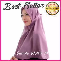Kerudung Hijab Jilbab Instan Simple Syari Khimar Wolfis Wolvis Wolpeach