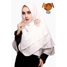Toko Kerudung Hijab Jilbab Khimar Arzetta Dua Layer Off White Di Jawa Barat