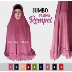 Kerudung Hijab Syari Jumbo Plong Rempel