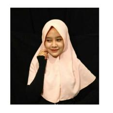 kerudung Instan simpel / jilbab hijab Murah - (Peach)