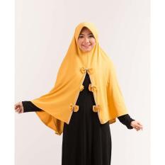 Kerudung Jilbab Hijab Instan Bergo Warna Kuning GF GUM 4722