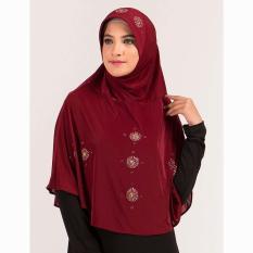 Kerudung Jilbab Hijab Instan Bergo Warna Merah Marun GF GKI 9108