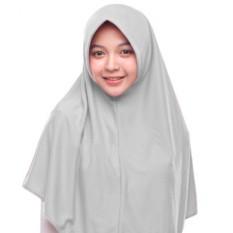 Kerudung Jilbab Hijab Murah Khimar Najwa Instan Murah Grosir - Abu Muda