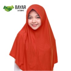 Kerudung Jilbab Hijab Murah Khimar Najwa Instan Murah Grosir - Bata