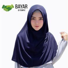 Kerudung Jilbab Hijab Murah Khimar Najwa Instan Murah Grosir - Navy