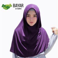 Kerudung Jilbab Hijab Murah Khimar Najwa Instan Murah Grosir - Ungu