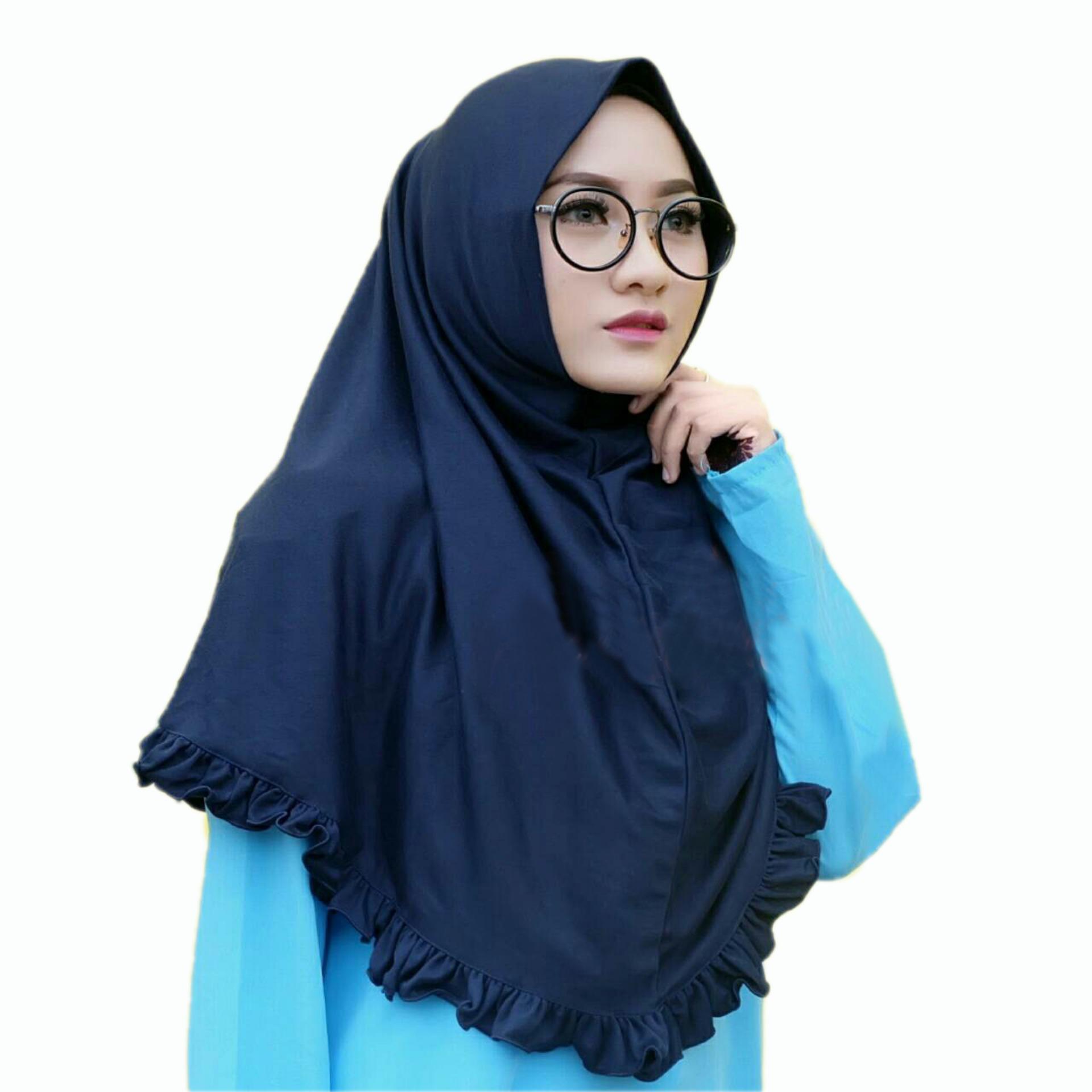 Kerudung Jilbab Hijab Murah Khimar Najwa Rempel Instan Murah Grosir Jilbab  Rempel Lipit 5f4f9b8942