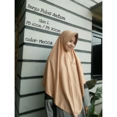 Kerudung Jilbab Instan Bergo Polos Antem Moka