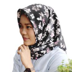 Hijab El Zahrana Kerudung Segi Empat - Jilbab Segi Empat Motif - Premium Monalisa - Hijab