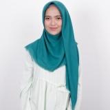 Jual Kerudung Segiempat Rawis Zoya Kerudung Unvinised Swarovsky Green Online Jawa Barat