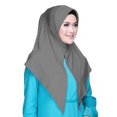 Kerudung Zoya - Alia HL Casual warna Grey