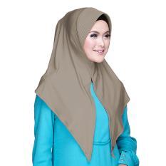 Kerudung Zoya - Alia HL Casual warna Khaky