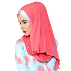 Kerudung Zoya - Bergo Nazmia Pink