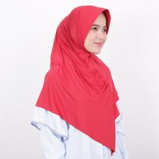 Kerudung Zoya Jilbab Instan - Kalila Filia Rose Red