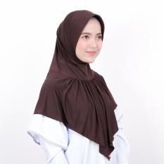Kerudung Zoya Jilbab Instan - Kalila Nalanie Dark Brown
