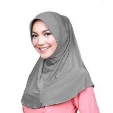 Kerudung Zoya - Marsha HB Casual warna Grey