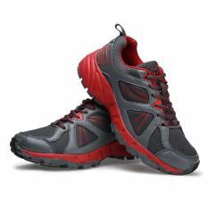 Toko Keta Sepatu Running Olahraga Outdoor Pria 175 Abu Merah Lengkap