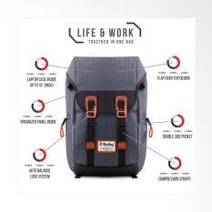 Key Bag Tas Ransel  Korea Style 1005-18 Inchi - Grey Original