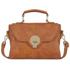 Beli Kgs Tas Selempang Wanita Impor Casual Formal Classic Feminine Satchel Bag Coklat Cicilan