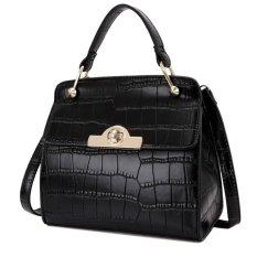 Kgs Tas Casual Kerja Wanita Frame Croco Mini Handbag Hitam Asli