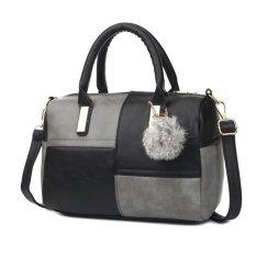 Harga Termurah Kgs Tas Casual Kerja Wanita Fur Tassel Mini Duffel Sling Bag Hitam