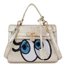 Spesifikasi Kgs Tas Casual Wanita Big Eyes Locked Croco Handbag Emas Dan Harga