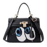 Toko Kgs Tas Casual Wanita Big Eyes Locked Croco Handbag Hitam Dekat Sini