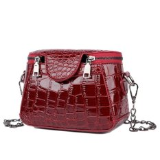 Jual Kgs Tas Casual Wanita Croco Box Shoulder Bag Merah Branded Original