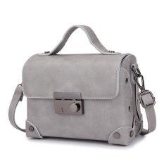 Jual Kgs Tas Selempang Wanita Impor Casual Cubical Mini Satchel Bag Abu Abu Branded Original