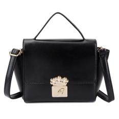 KGS Tas Selempang Wanita Impor Casual Formal Floral Lock Mini Satchel Bag - Hitam