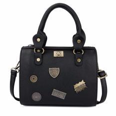 Spek Kgs Tas Selempang Wanita Impor Casual Pins Mini Duffel Bag Hitam Kgs