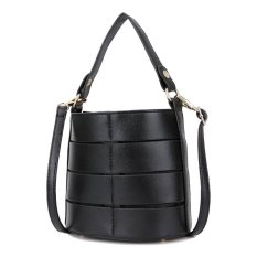 Jual Kgs Tas Selempang Wanita Impor Casual Round Mini Shoulder Bag Hitam Termurah