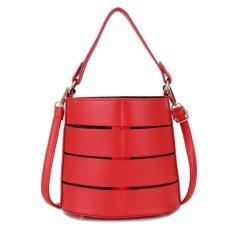 Review Toko Kgs Tas Selempang Wanita Impor Casual Round Mini Shoulder Bag Merah